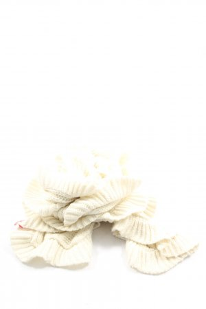 Esprit Crochet Scarf natural white casual look