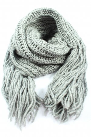 Esprit Crochet Scarf light grey cable stitch casual look