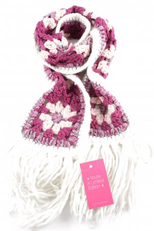 Esprit Crochet Scarf pink-white casual look
