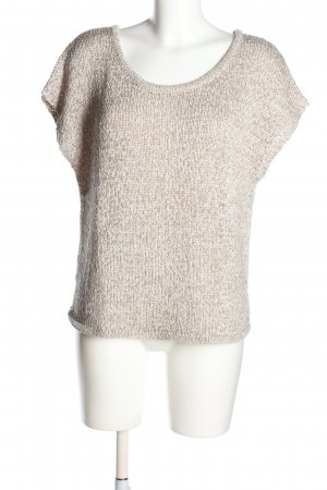 Esprit Top en maille crochet bronze moucheté style décontracté