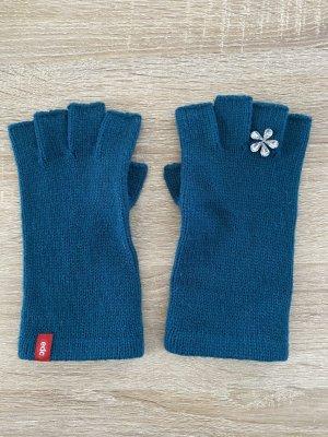Esprit Halbfinger Handschuhe mit Steinchen Türkis