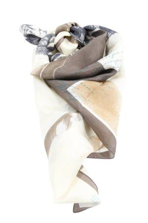 Esprit Pañoleta crema-marrón estampado con diseño abstracto look casual