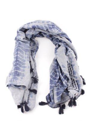 Esprit Halsdoek blauw-lichtgrijs abstract patroon casual uitstraling