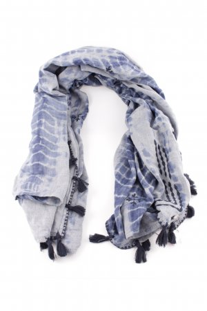 Esprit Neckerchief blue-light grey abstract pattern casual look