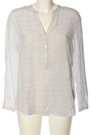 Esprit Hemd-Bluse weiß-schwarz Allover-Druck Casual-Look