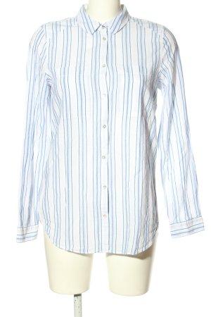 Esprit Hemd-Bluse weiß-blau Streifenmuster Business-Look