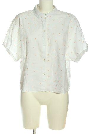 Esprit Hemd-Bluse weiß-nude Casual-Look
