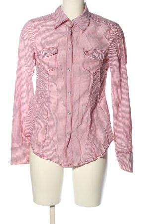 Esprit Hemd-Bluse rot-weiß Allover-Druck Business-Look