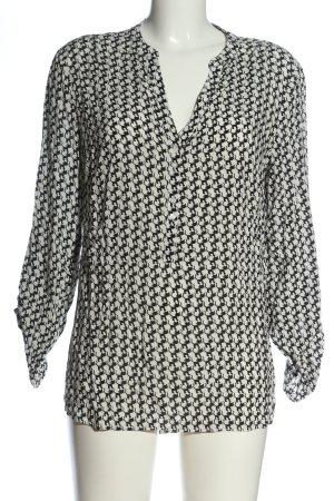 Esprit Hemd-Bluse schwarz-weiß Allover-Druck Business-Look