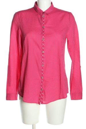 Esprit Blouse-chemisier rose-blanc motif rayé style décontracté
