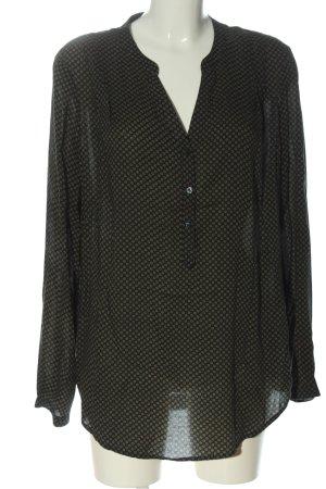 Esprit Hemd-Bluse khaki Allover-Druck Business-Look