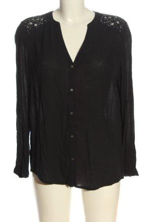 Esprit Hemd-Bluse schwarz Elegant