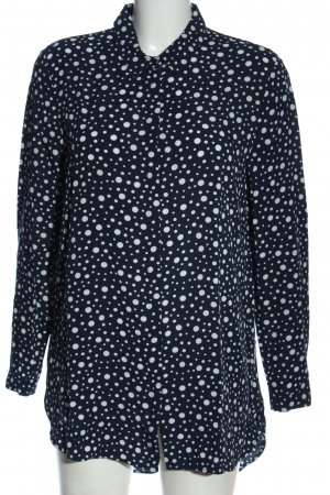 Esprit Hemd-Bluse blau-weiß Punktemuster Casual-Look