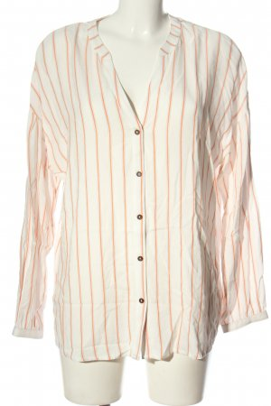 Esprit Koszulowa bluzka w kolorze białej wełny-jasny pomarańczowy
