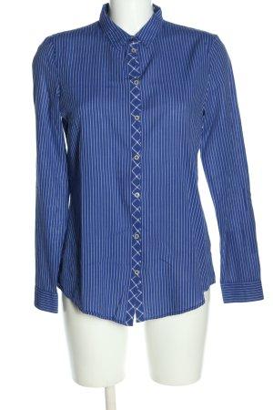 Esprit Blouse-chemisier bleu-blanc motif rayé style décontracté