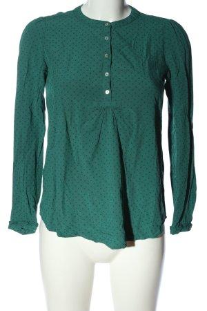Esprit Hemd-Bluse grün Allover-Druck Business-Look