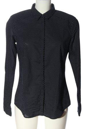Esprit Hemd-Bluse schwarz-weiß Punktemuster Casual-Look