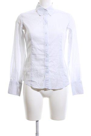 Esprit Hemd-Bluse weiß Streifenmuster Business-Look