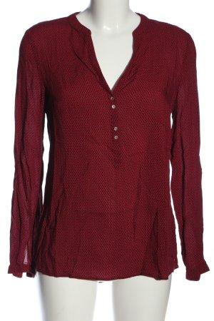 Esprit Hemd-Bluse rot-blau Allover-Druck Business-Look