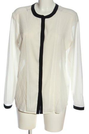 Esprit Hemd-Bluse wollweiß-schwarz Elegant