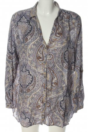 Esprit Hemd-Bluse abstraktes Muster Casual-Look