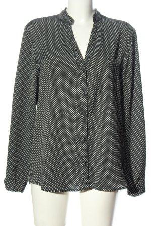Esprit Hemd-Bluse schwarz-weiß Casual-Look