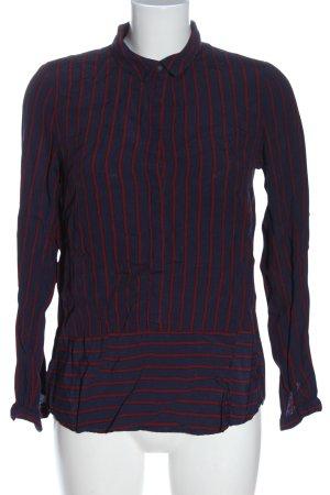 Esprit Hemd-Bluse blau-rot Streifenmuster Casual-Look