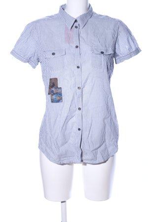 Esprit Hemd-Bluse blau-weiß Streifenmuster Casual-Look
