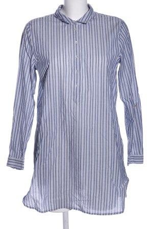 Esprit Hemd-Bluse blau-hellgrau Streifenmuster Casual-Look