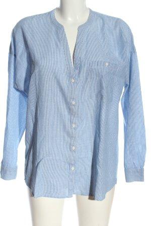 Esprit Hemd-Bluse weiß-blau Streifenmuster Elegant