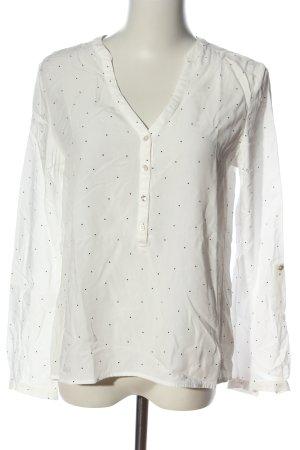 Esprit Hemd-Bluse weiß-schwarz Allover-Druck Business-Look