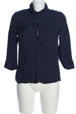 Esprit Hemd-Bluse schwarz-weiß Allover-Druck Casual-Look