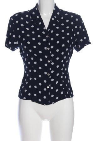 Esprit Hemd-Bluse blau-weiß Allover-Druck Business-Look