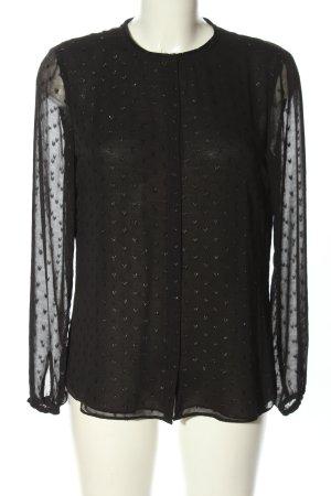 Esprit Hemd-Bluse schwarz Allover-Druck Casual-Look
