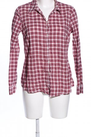 Esprit Hemd-Bluse rot-weiß Karomuster Casual-Look