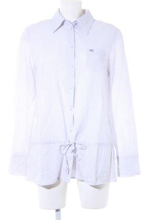 Esprit Hemd-Bluse weiß-hellgrau Streifenmuster Casual-Look