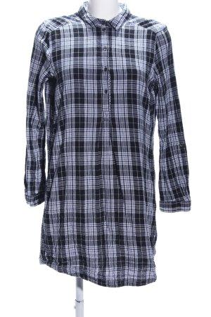 Esprit Shirtwaist dress black-light grey check pattern casual look