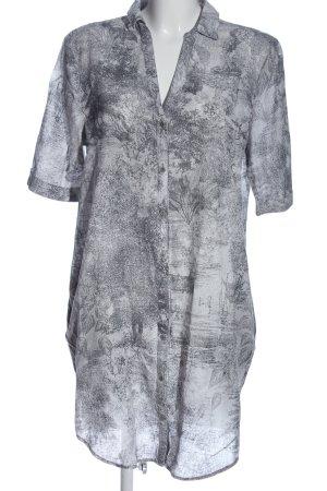 Esprit Robe chemise gris clair imprimé allover style décontracté