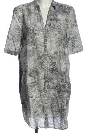 Esprit Hemdblusenkleid hellgrau abstraktes Muster Elegant