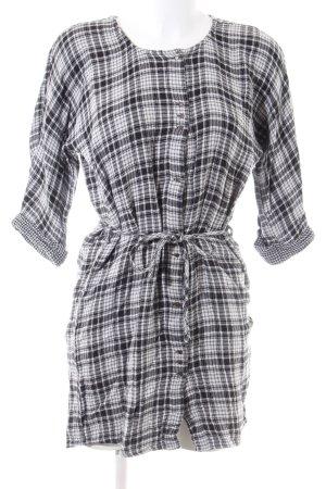 Esprit Hemdblousejurk zwart-wit volledige print casual uitstraling