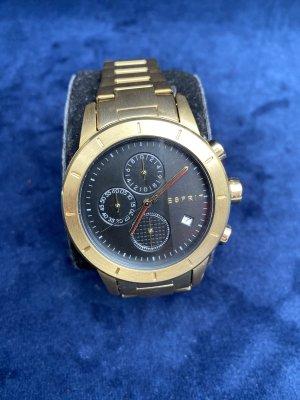 Esprit Herren Uhr  neu mit Verpackung Gold schwarz