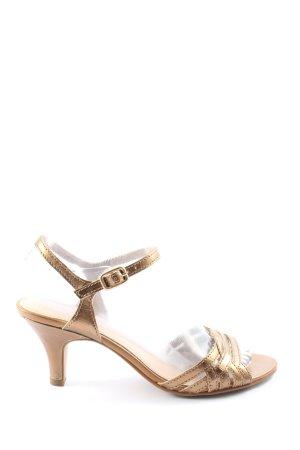 Esprit High Heel Sandaletten goldfarben Elegant