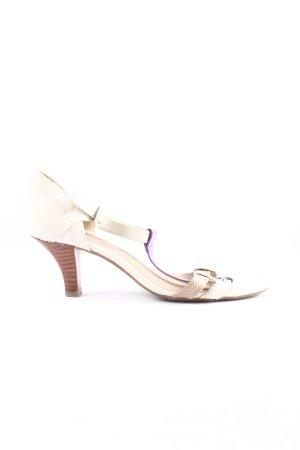 Esprit High Heel Sandaletten creme-lila Casual-Look