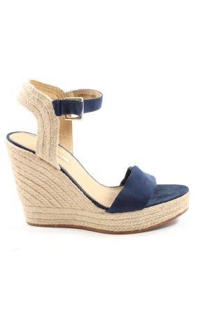 Esprit High Heel Sandaletten blau-wollweiß Casual-Look