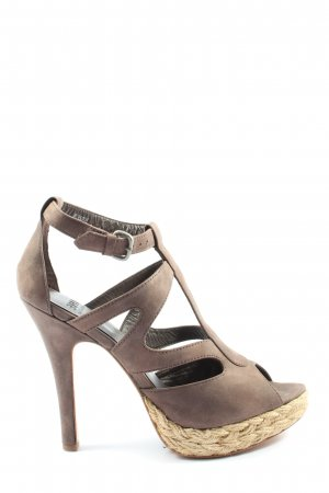 Esprit High Heel Sandaletten braun Casual-Look