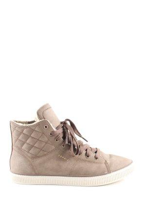 Esprit High Top Sneaker braun Steppmuster Casual-Look