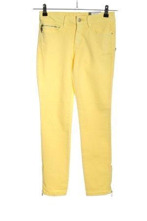 Esprit Pantalon taille haute jaune primevère style décontracté