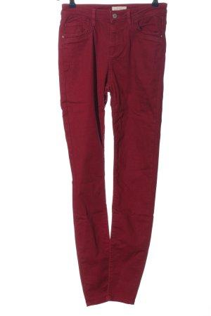 Esprit Spodnie z wysokim stanem czerwony W stylu casual