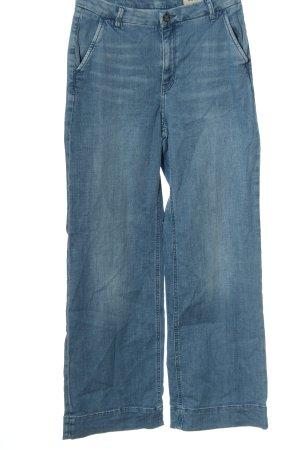 Esprit Vaquero de talle alto azul look casual