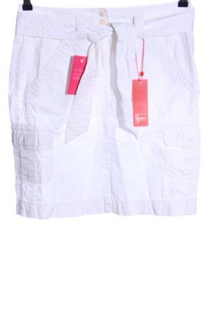 Esprit Jupe taille haute blanc style décontracté